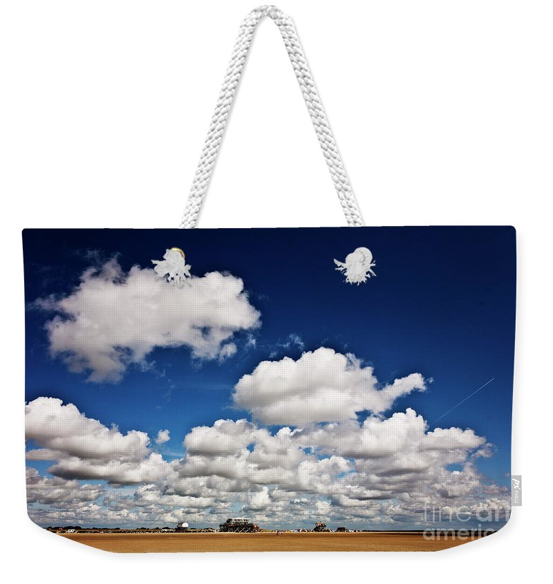Beach Weekender Tote Bag featuring the photograph Beach Far And Wide 1 by Heiko Koehrer-Wagner