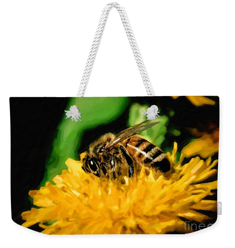 Bee Weekender Tote Bag featuring the photograph 2 Bee Or Not 2 Bee by Jon Burch Photography