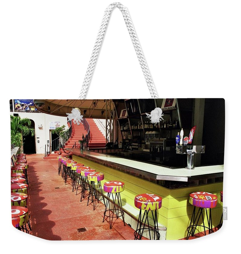 South Beach Weekender Tote Bag featuring the photograph Before The Rush - South Beach by Allen Beatty
