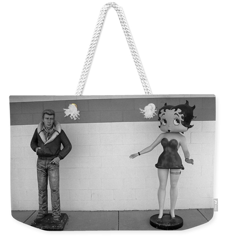 1930's Weekender Tote Bag featuring the photograph Betty Boop 4 by Frank Romeo