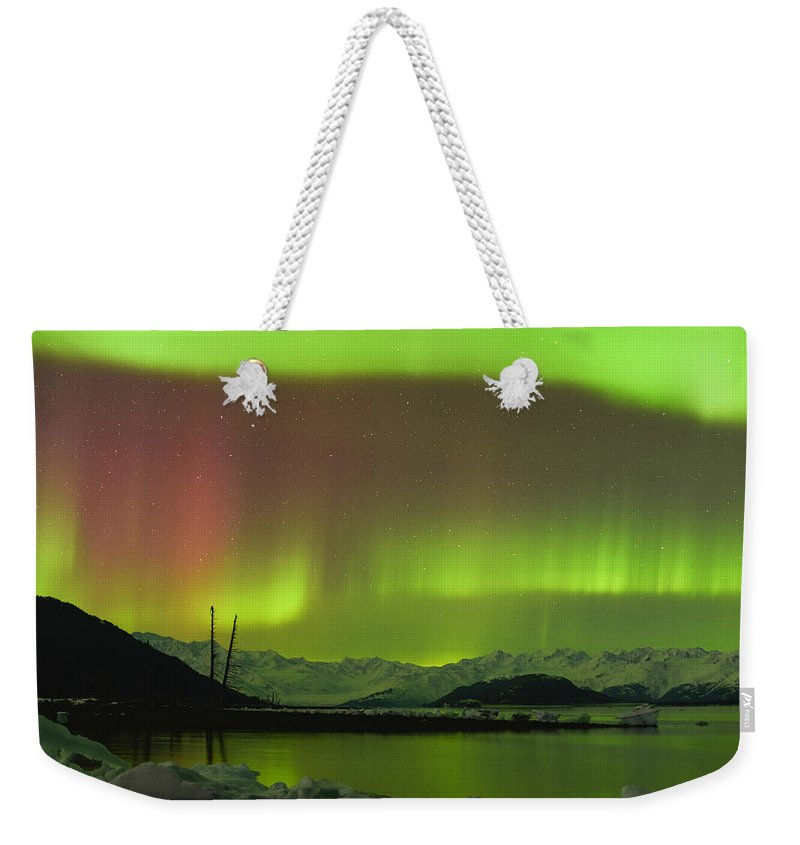 Aurora Weekender Tote Bag featuring the photograph Blush by Ted Raynor