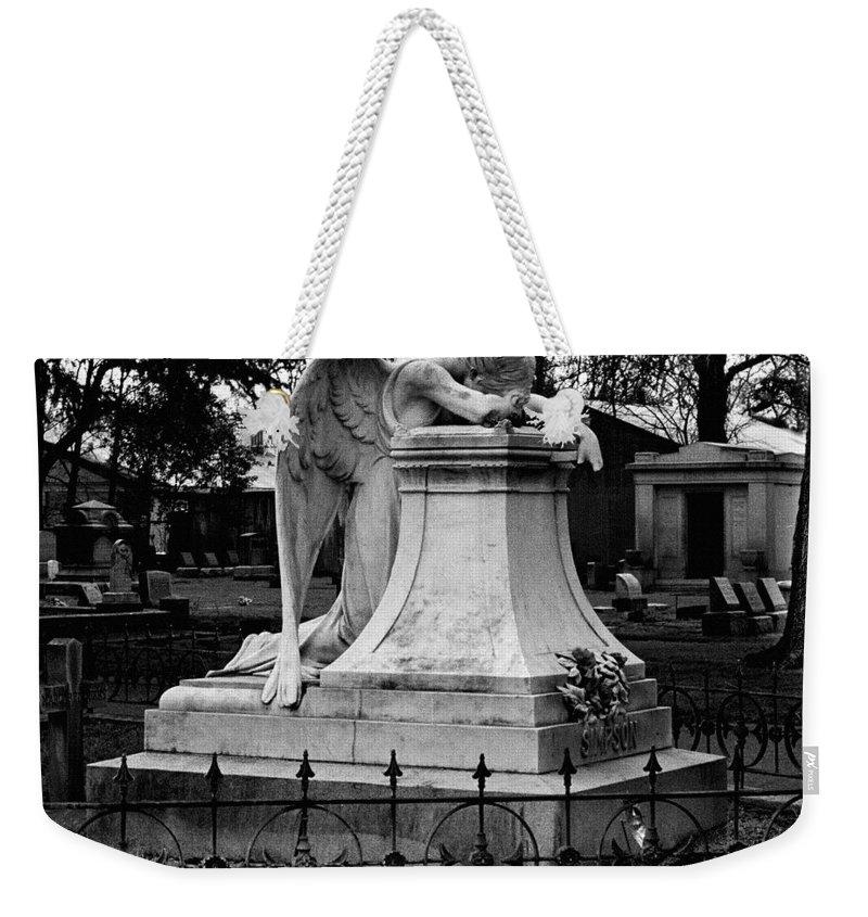 Guardian Weekender Tote Bag featuring the photograph Broken Angel by Peter Piatt