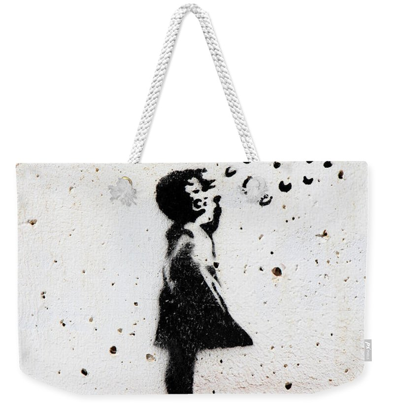 Bubbles Weekender Tote Bag featuring the photograph Bubbles by Munir Alawi