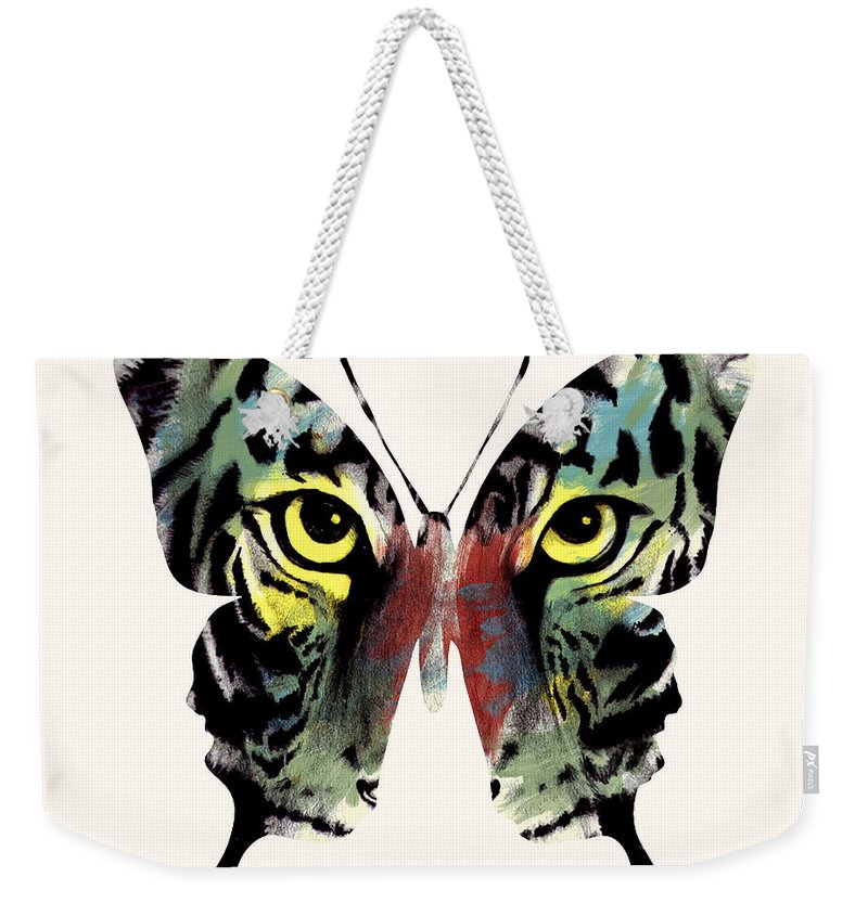 Butterfly Weekender Tote Bag featuring the digital art Butterfly 2 by Mark Ashkenazi