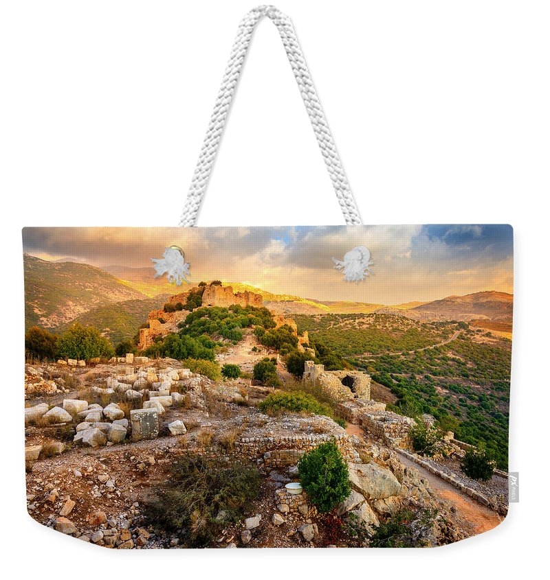 Castle Weekender Tote Bag featuring the photograph Castle Nimrod by Alexey Stiop