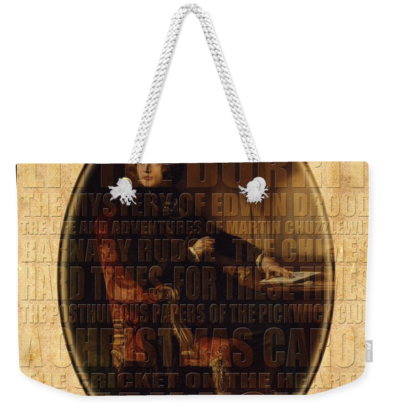 Dickens Weekender Tote Bag featuring the photograph Charles Dickens by Andrew Fare
