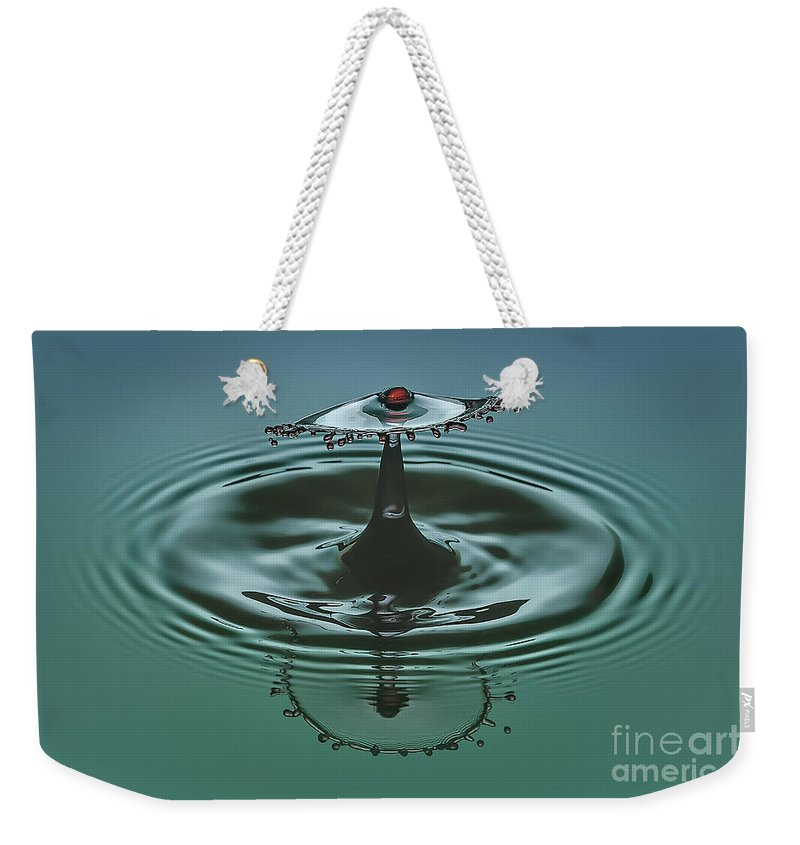 Water Weekender Tote Bag featuring the photograph Cherry On Top by Susan Candelario