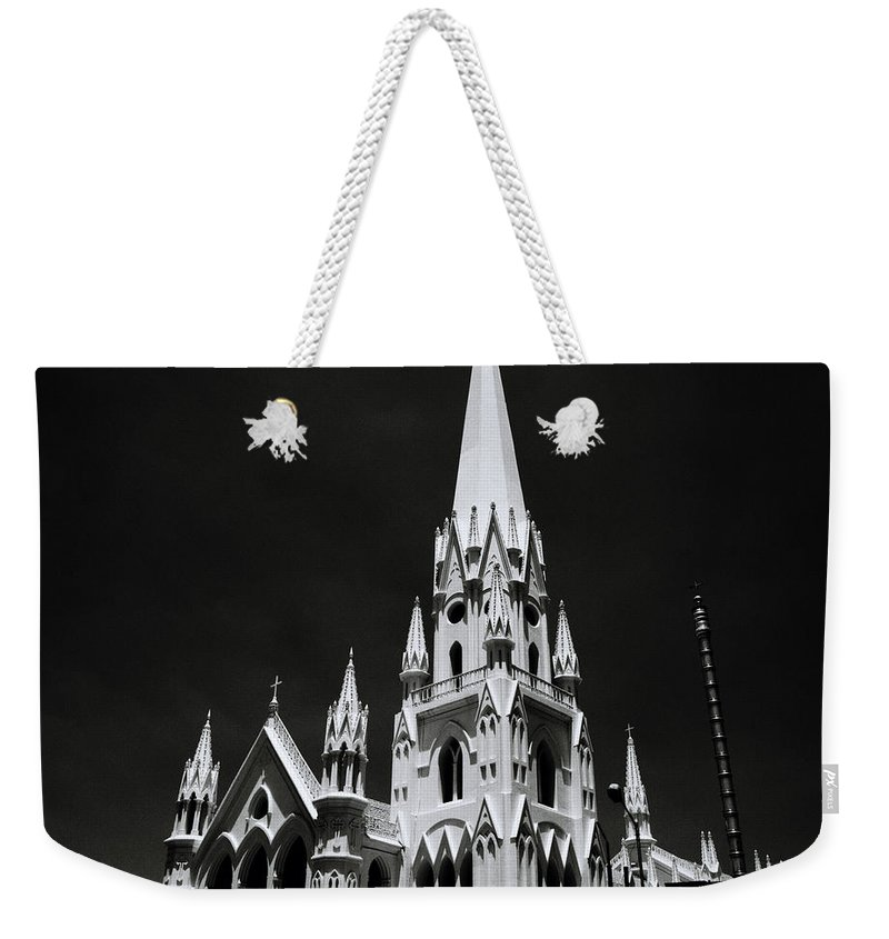 Architecture Weekender Tote Bag featuring the photograph Black And White Basilica by Shaun Higson