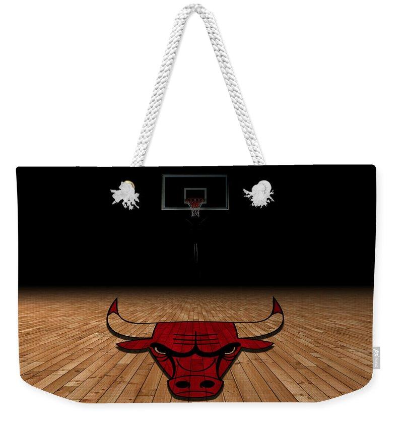 Bulls Weekender Tote Bag featuring the photograph Chicago Bulls 2 by Joe Hamilton