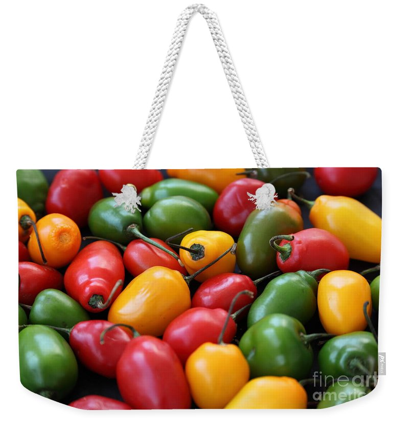 Food And Beverage Weekender Tote Bag featuring the photograph Chili Peppers by James Brunker
