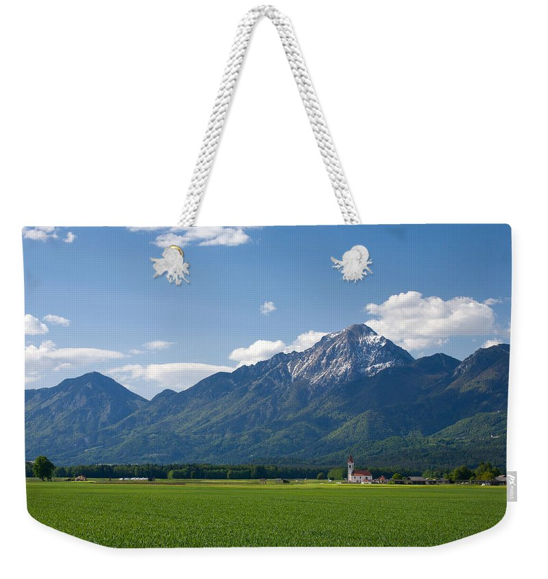 Brnik Weekender Tote Bag featuring the photograph Church Of Saint John In Spring by Ian Middleton