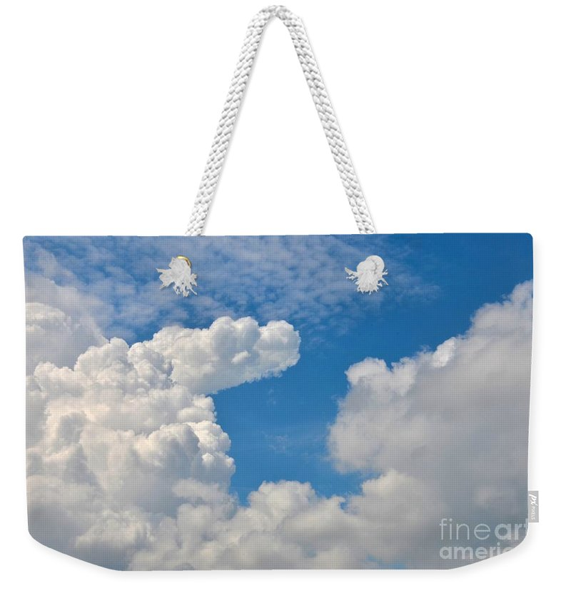 Abstract Weekender Tote Bag featuring the photograph Clouds In The Sky by Imran Ahmed