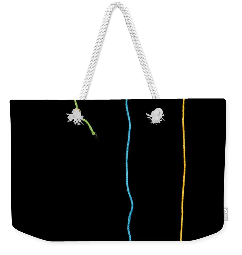 Art Weekender Tote Bag featuring the photograph Colorful String by Tim Hester