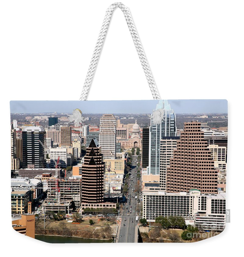 Capitol Building Weekender Tote Bag featuring the photograph Congress Avenue by Bill Cobb