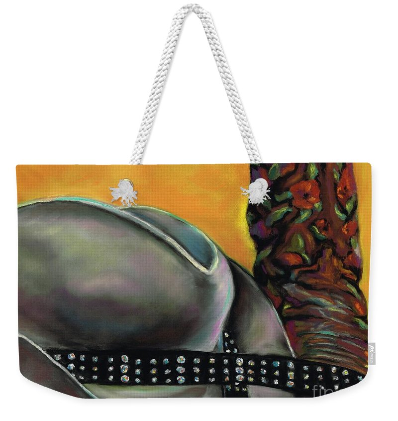 Cowgirls Weekender Tote Bag featuring the painting Cowgirl Necessities by Frances Marino