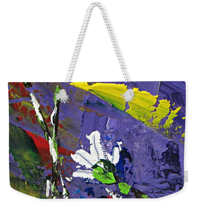 Daisies Weekender Tote Bag featuring the painting Daisies by Kume Bryant
