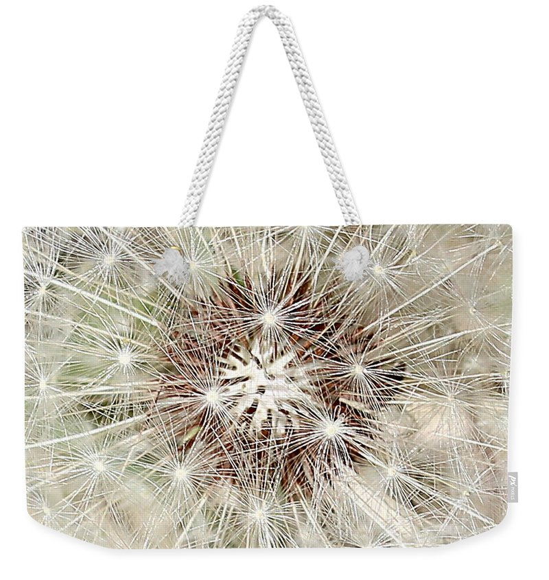 Dandelion Weekender Tote Bag featuring the photograph Dandelion by Kume Bryant