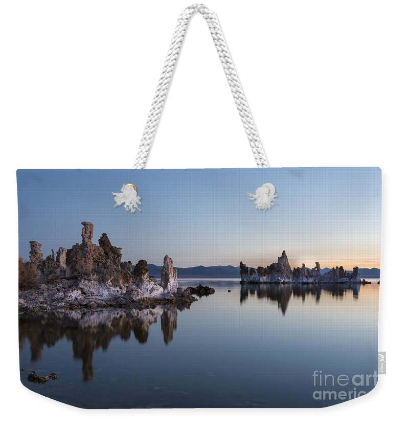 Waterscape Weekender Tote Bag featuring the photograph Dawn On Mono Lake by Sandra Bronstein