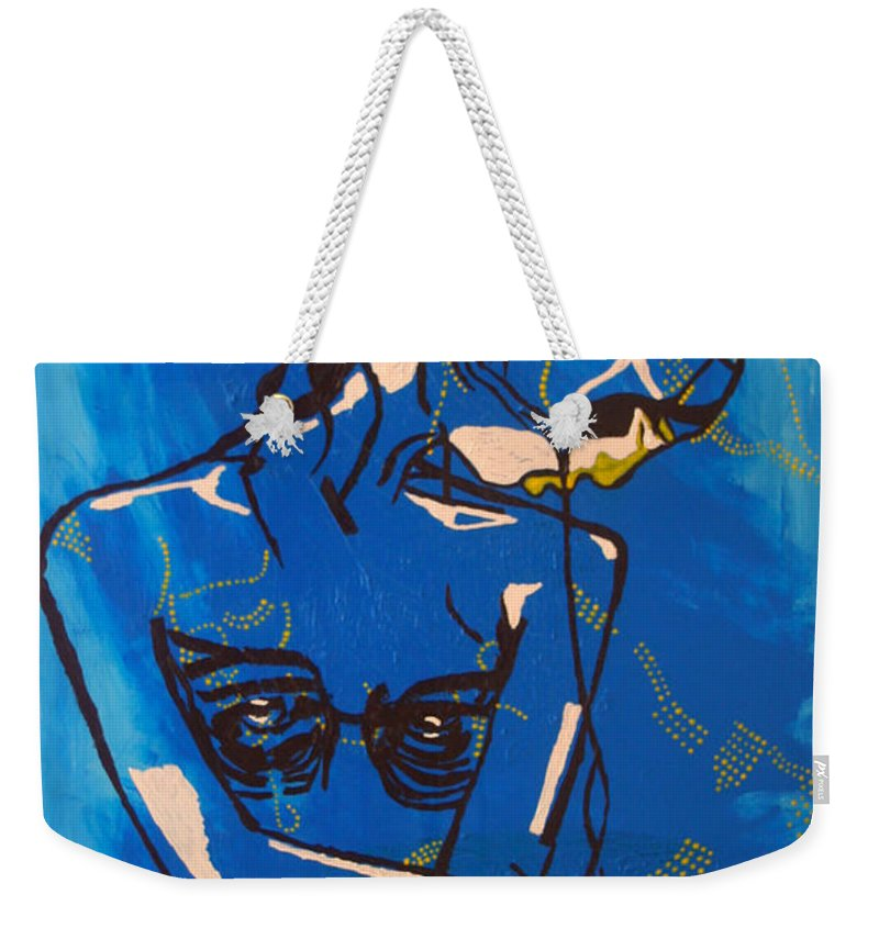 Jesus Weekender Tote Bag featuring the painting Dinka Painted Lady - South Sudan by Gloria Ssali