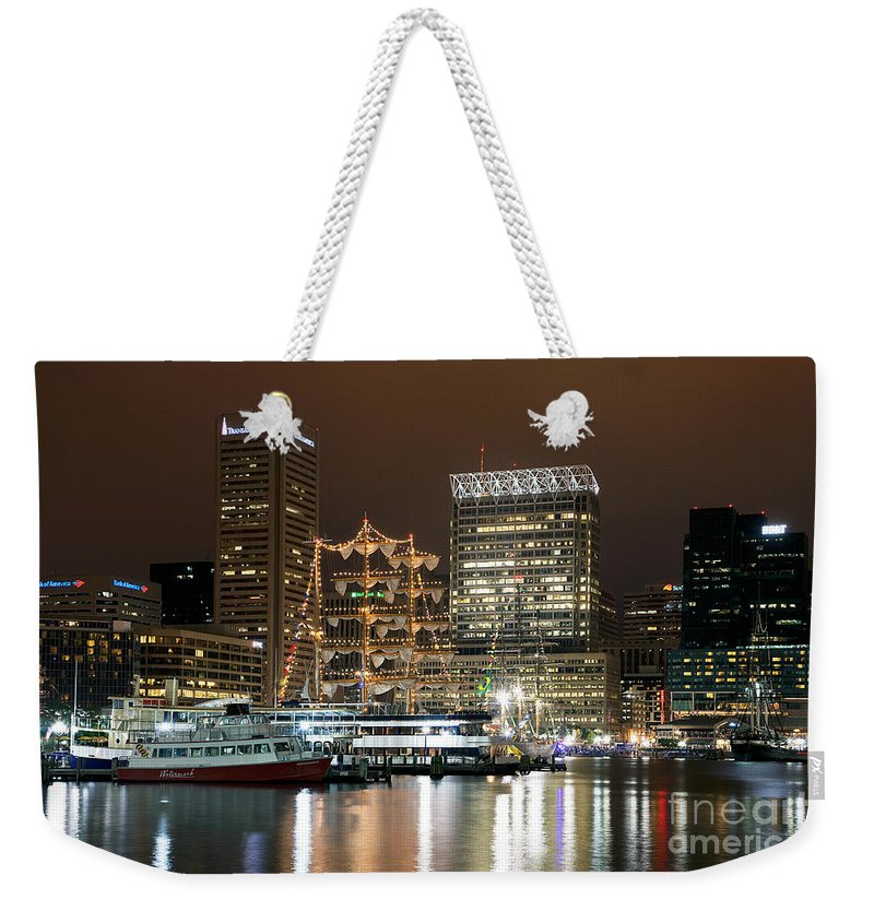 Baltimore Weekender Tote Bag featuring the photograph Downtown Baltimore by Bill Cobb