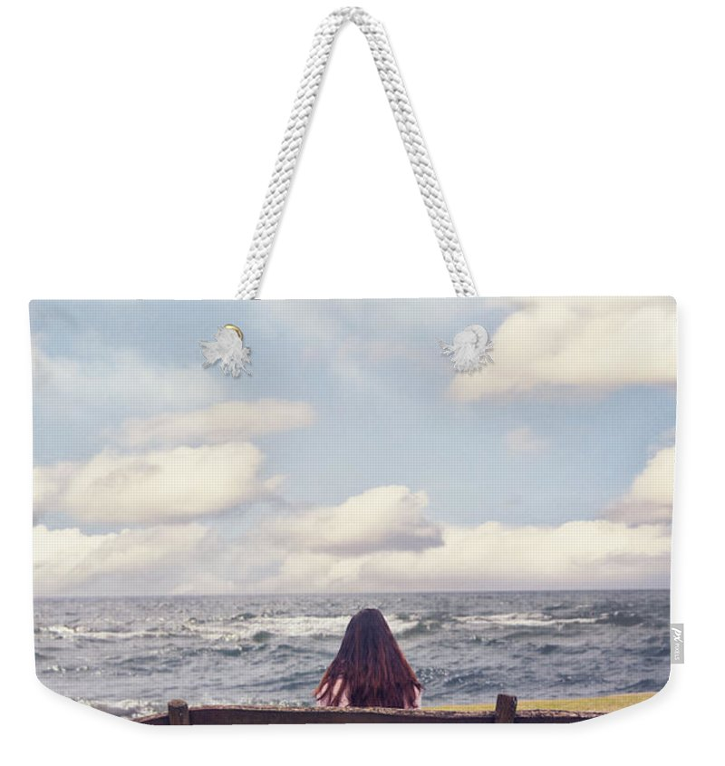 Woman Weekender Tote Bag featuring the photograph Dreaming by Joana Kruse