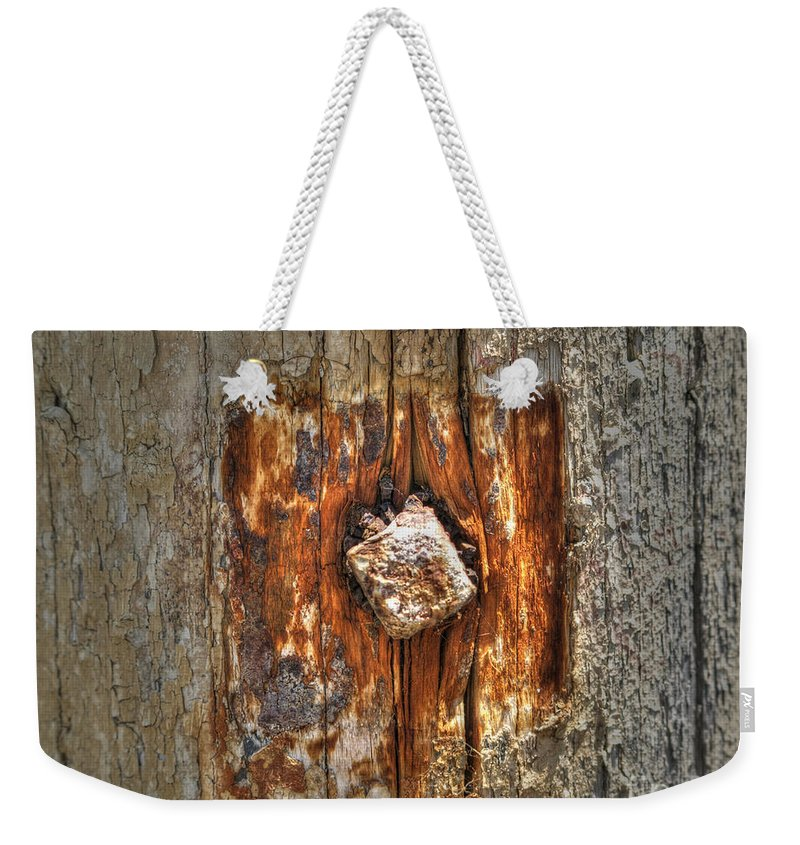 Driftwood Weekender Tote Bag featuring the photograph Driftwood by Jacklyn Duryea Fraizer