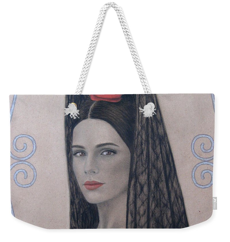 Elena Weekender Tote Bag featuring the painting Elena by Lynet McDonald