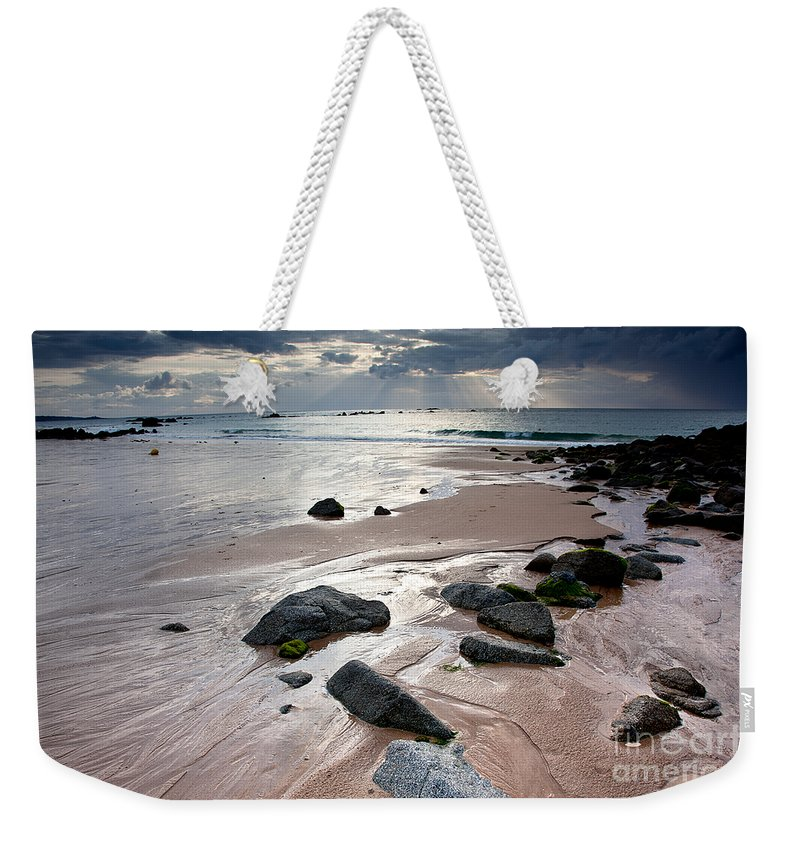 Sun Weekender Tote Bag featuring the photograph Evening At The Sea by Nailia Schwarz