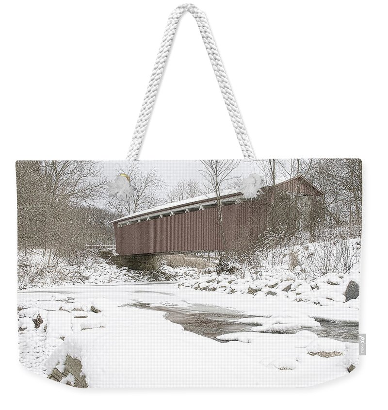 Cvnp Weekender Tote Bag featuring the photograph Everett Covered Bridge by Jack R Perry