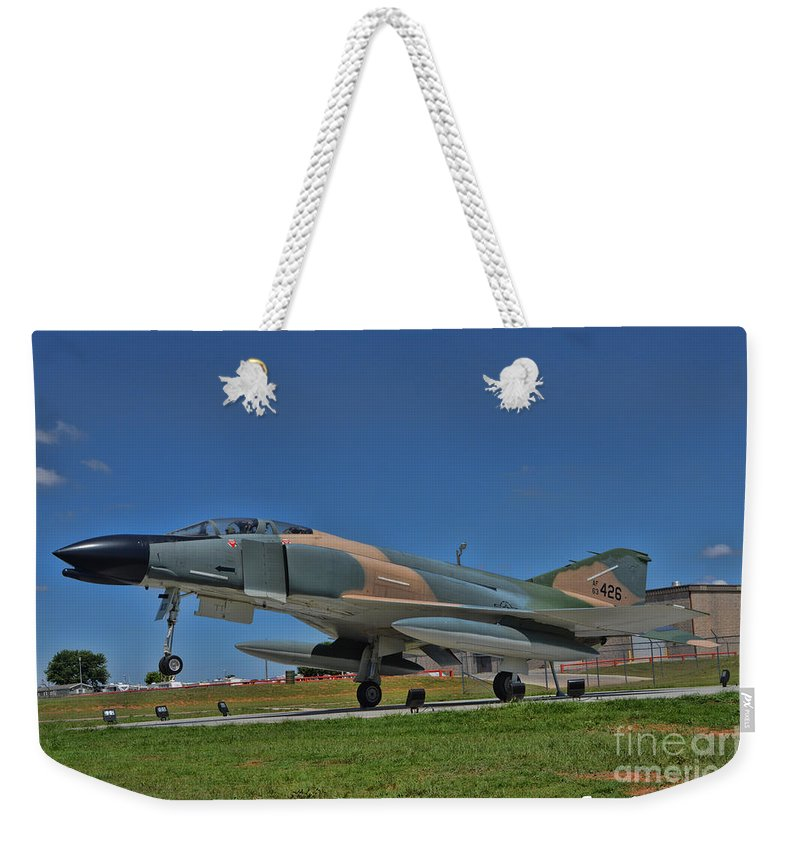 Mcdonnell Douglas F-4 Phantom Ii Weekender Tote Bag featuring the photograph F-4 Phantom II by Tommy Anderson