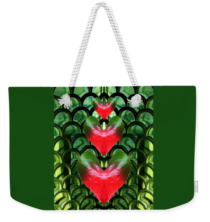Scottish Art Weekender Tote Bag featuring the digital art Family by Rodger Insh