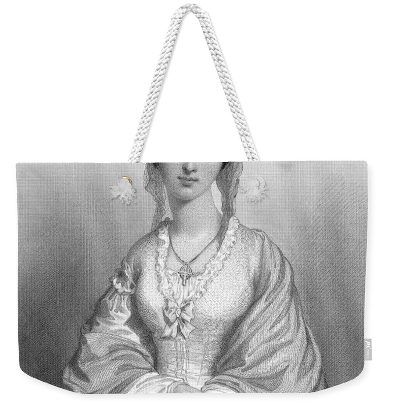 19th Century Weekender Tote Bag featuring the photograph Florence Nightingale by Granger
