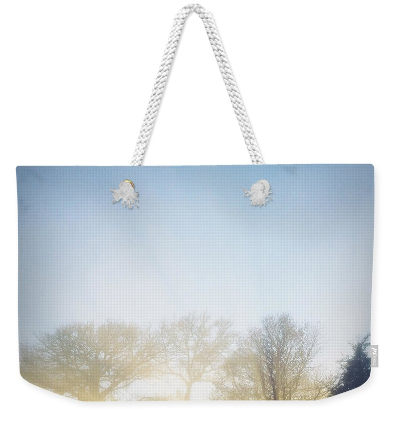 Autumn Weekender Tote Bag featuring the photograph Foggy Morning by Les Cunliffe