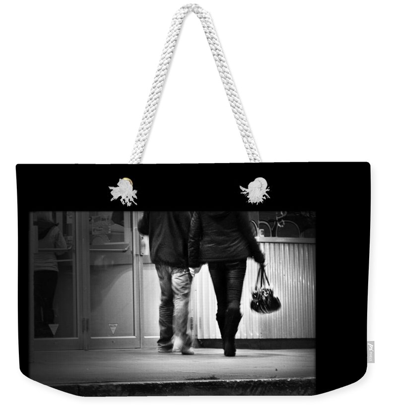 Theatre Weekender Tote Bag featuring the photograph Goin' To The Movies by Theresa Tahara