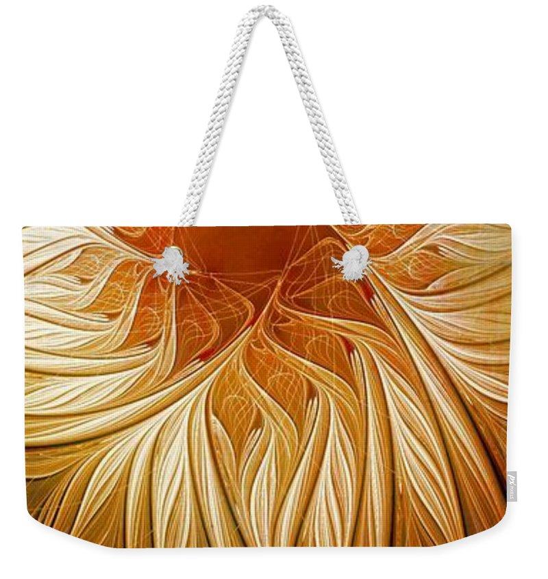 Digital Art Weekender Tote Bag featuring the digital art Golden Glory by Amanda Moore