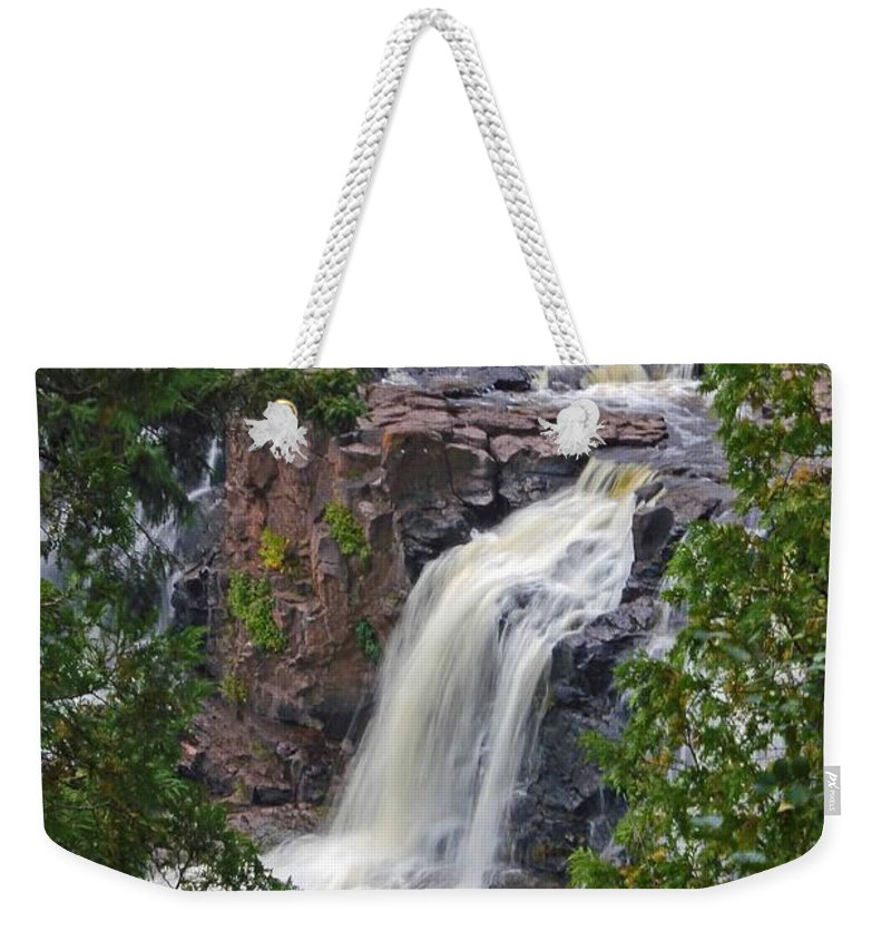 Gooseberry Falls Weekender Tote Bag featuring the photograph Gooseberry Falls by Stephanie Hanson