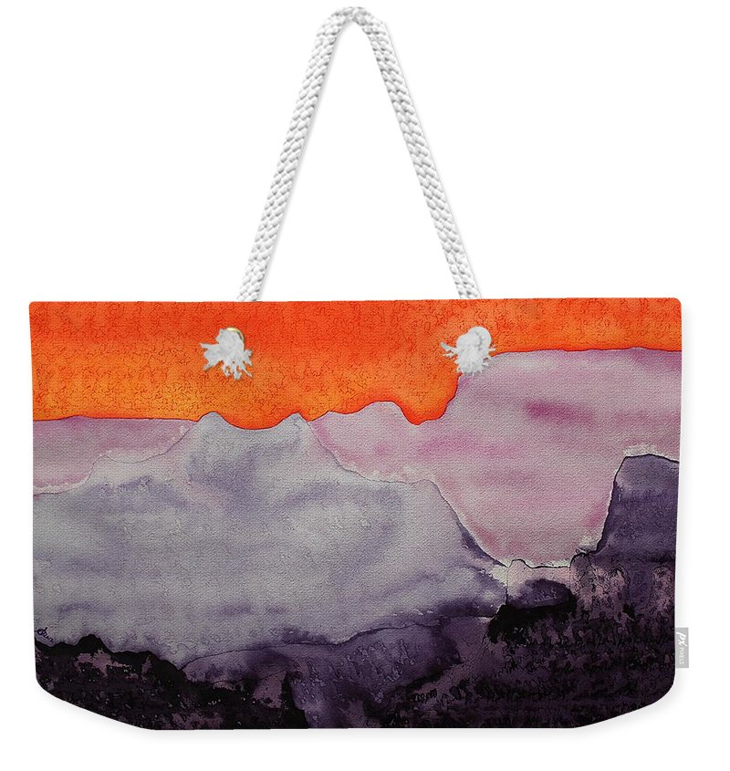 Grand Canyon Weekender Tote Bag featuring the painting Grand Canyon Original Painting by Sol Luckman
