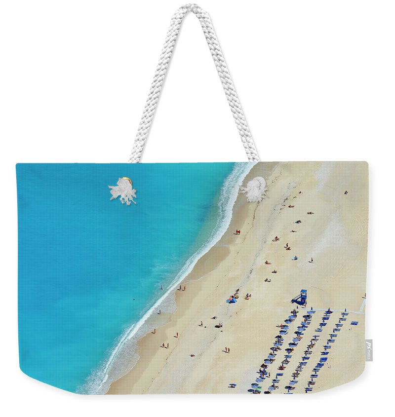 Water's Edge Weekender Tote Bag featuring the photograph Greece, Ionian Island, Cephalonia by Tuul & Bruno Morandi