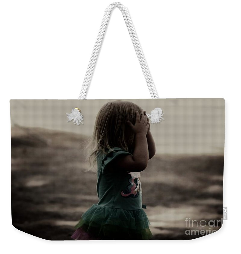 Girl Weekender Tote Bag featuring the photograph Hide And Seek by Jessica Shelton