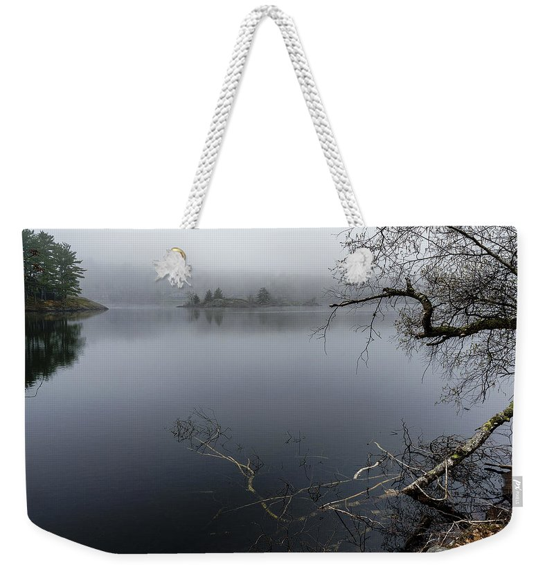 Hosmer Pond Camden Maine Weekender Tote Bag featuring the photograph Hosmer Pond In Camden Maine by Marty Saccone