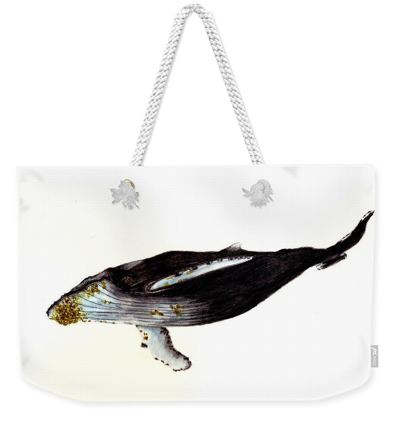 Animals Weekender Tote Bag featuring the painting Humpback Whale by Michael Vigliotti