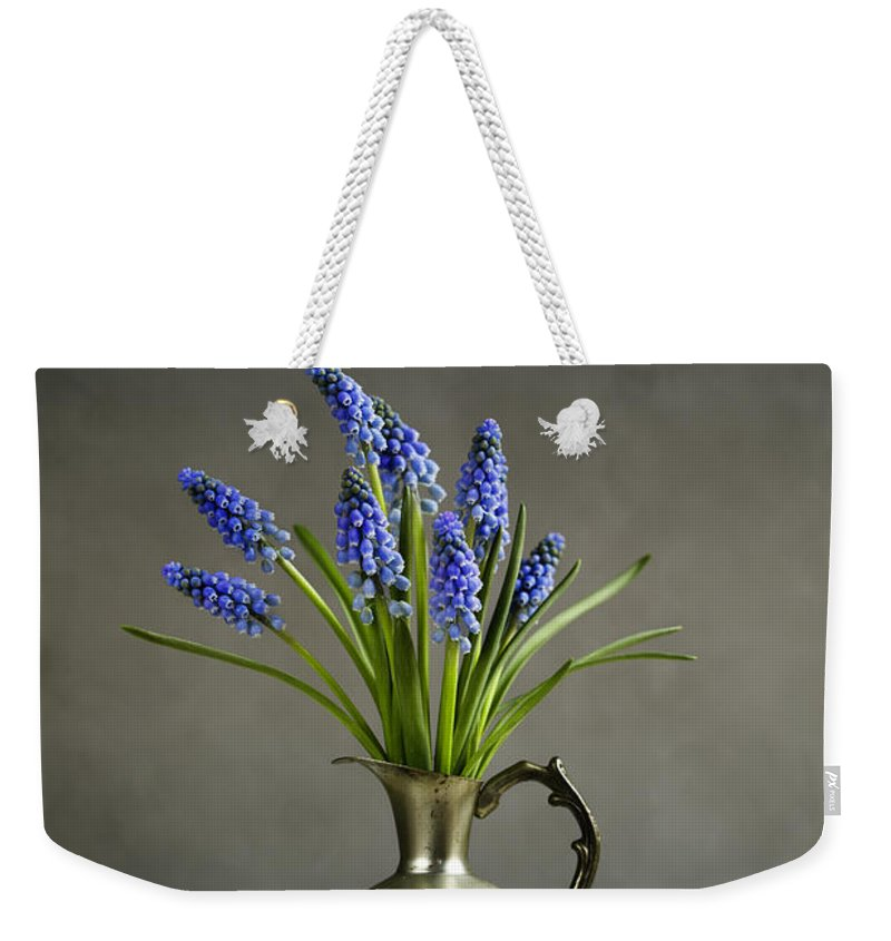 Hyacinth Weekender Tote Bag featuring the photograph Hyacinth Still Life by Nailia Schwarz