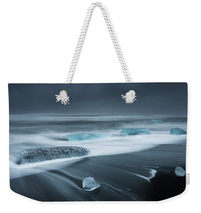 Water's Edge Weekender Tote Bag featuring the photograph Iceland by Jeremy Walker