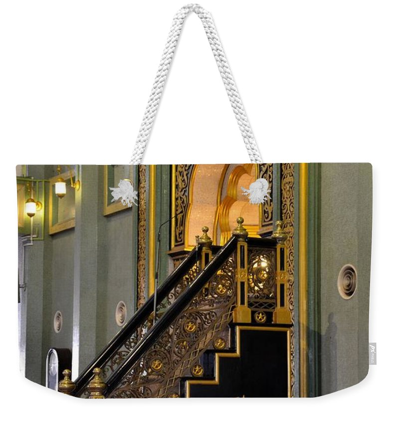 Mosque Weekender Tote Bag featuring the photograph Imam Pulpit Sultan Mosque Singapore by Imran Ahmed