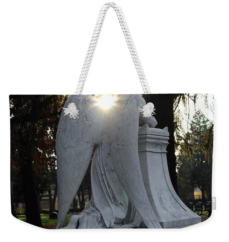 Guardian Weekender Tote Bag featuring the photograph In The Shadow Of His Light by Peter Piatt
