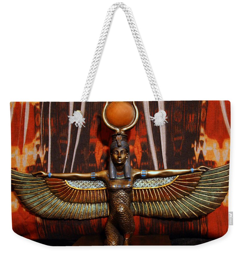 Isis Egyptian Goddess Weekender Tote Bag featuring the photograph Isis by Sheila Kay McIntyre