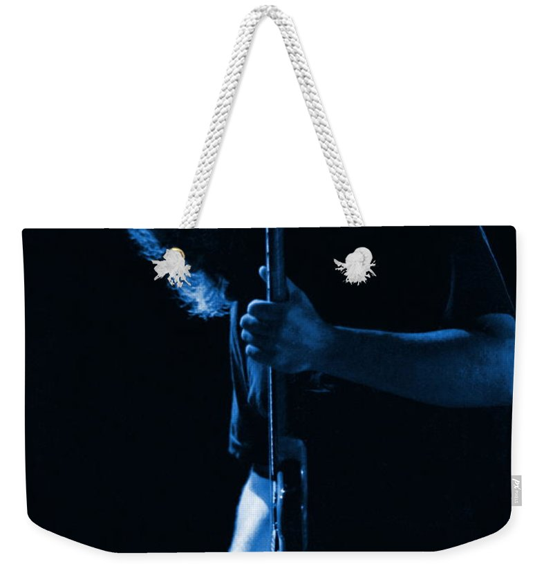 Jerry Garcia Weekender Tote Bag featuring the photograph Jerry Blue Sillow by Ben Upham