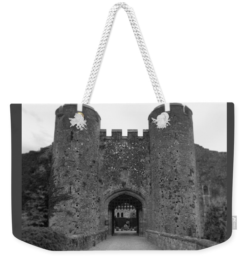 Photograph Weekender Tote Bag featuring the photograph Keys To The Castle - Black And White by Nicole Parks