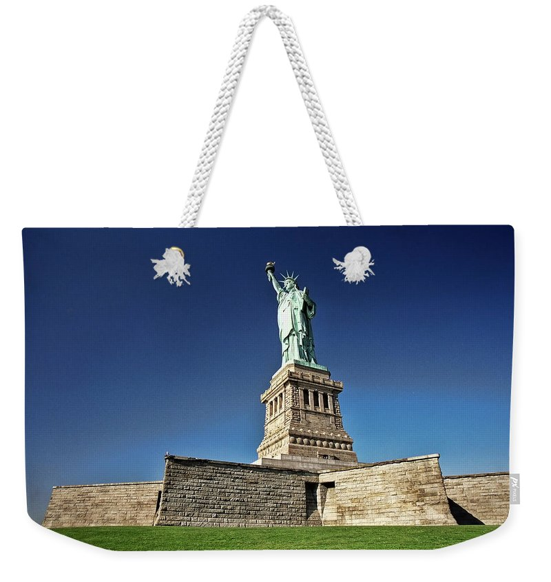 Allen Beatty Weekender Tote Bag featuring the photograph Lady Liberty 2 by Allen Beatty