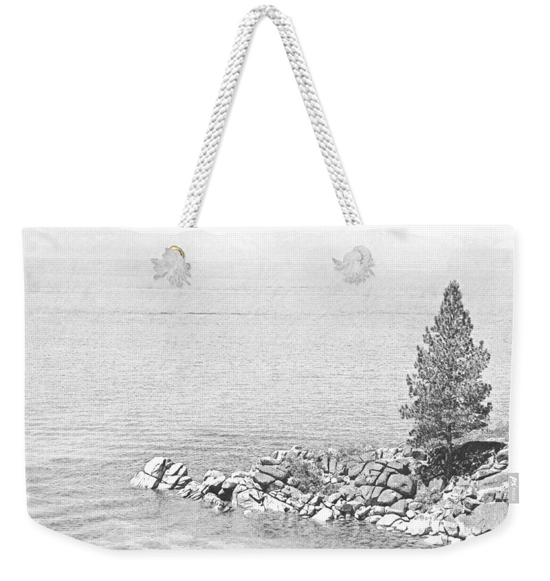 Lake Tahoe Weekender Tote Bag featuring the photograph Lake Tahoe Rocky Point by Frank Wilson